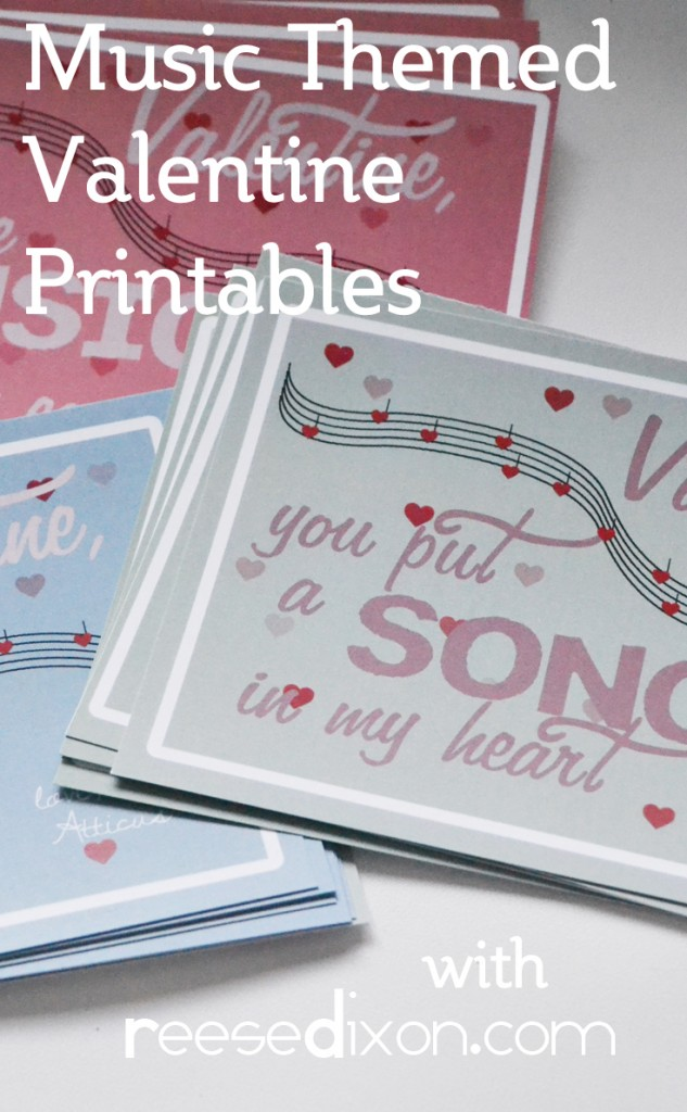 Music Themed Valentine Printables