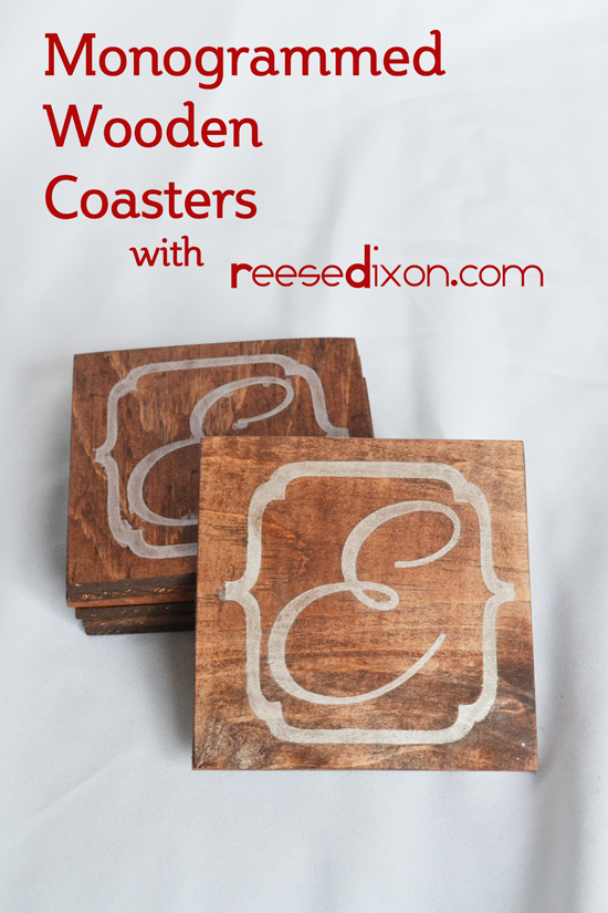 Monogrammed Wooden Coasters