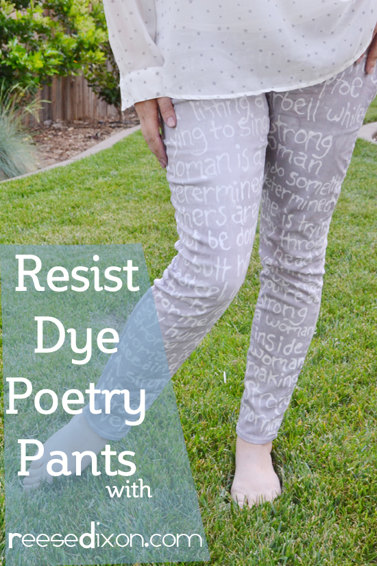 Resist Dye Poetry Pants
